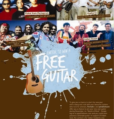 PETA Youth and Furtado's Team Up for Guitar Giveaway