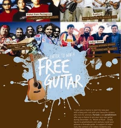 PETA Youth and Furtados Have Guitar Giveaway