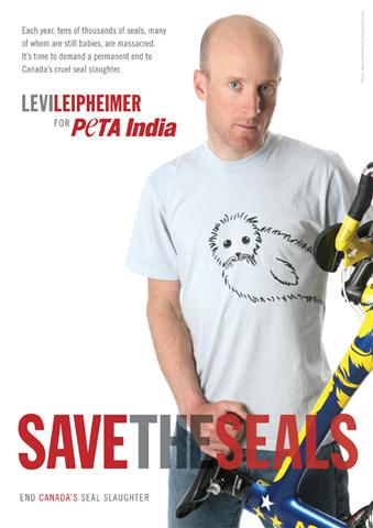 "Levi Leipheimer's ""Save the Seals"" ad"