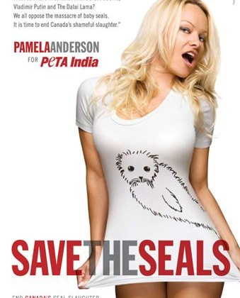 Just Released: Pam Anderson's Seal Ad!