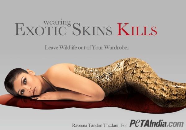 Raveena Exotic Skin Ad