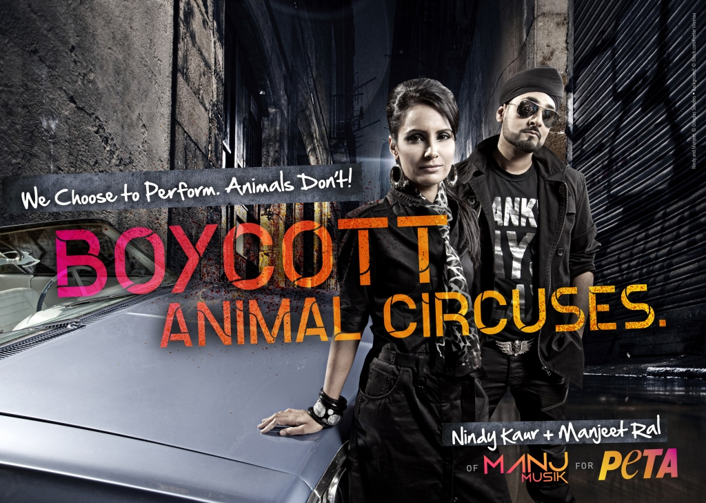 MANJ Musik Slams Circuses in New PETA Ad