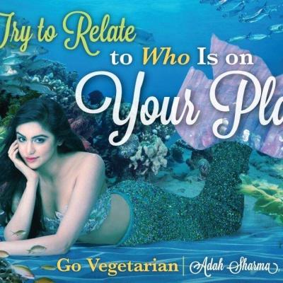 'Mermaid' Adah Sharma in Vegetarian Ad