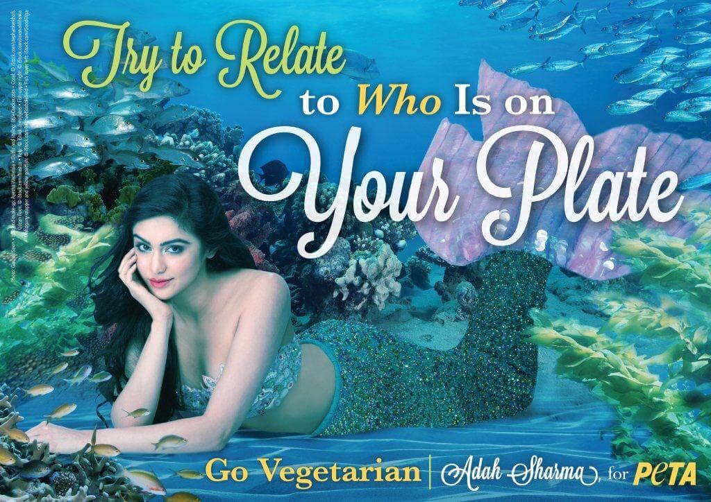 Adah Sharma's mermaid veg ad - resized