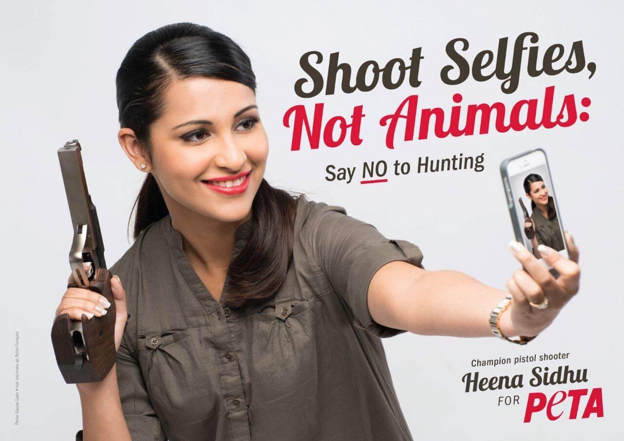 Heena Sidhu PETA ad
