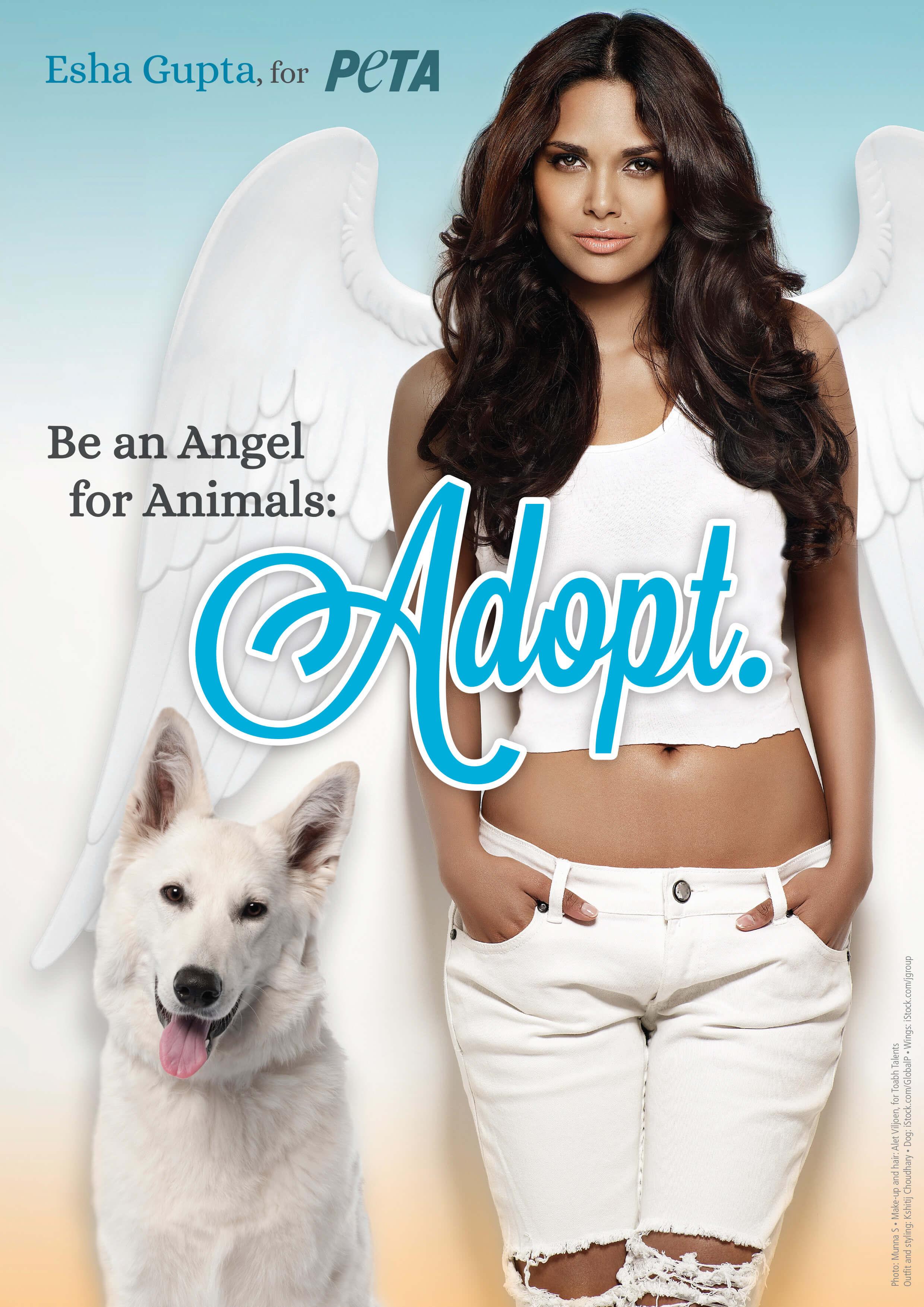 Esha Gupta Is a Guardian Angel for Animals