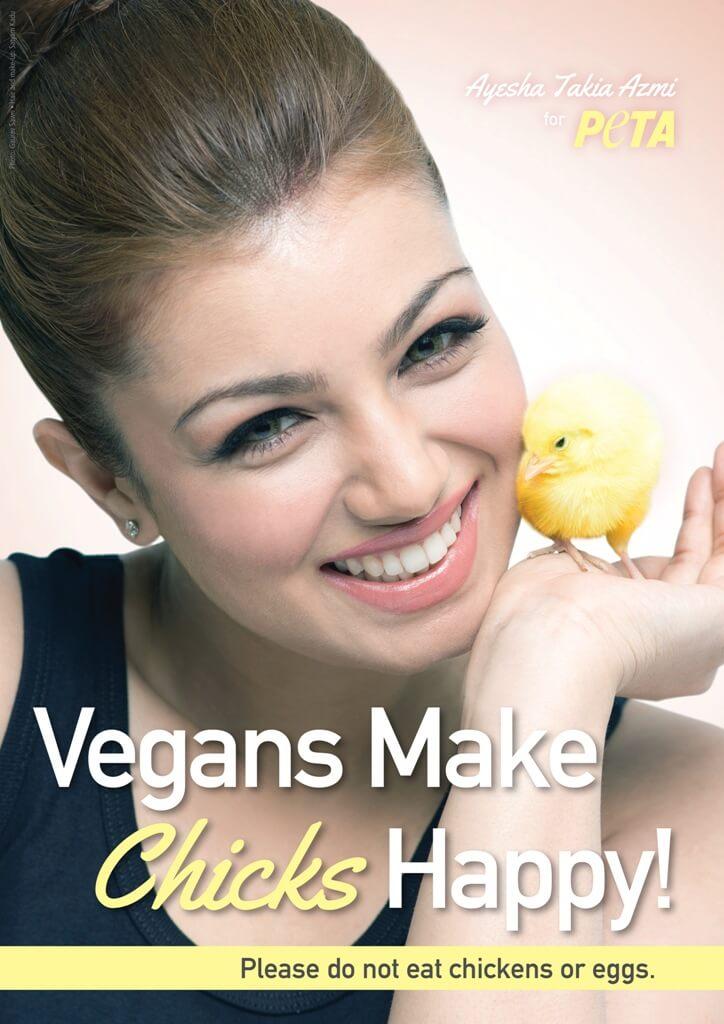 Ayesha Takia-Azmi vegan peta ad