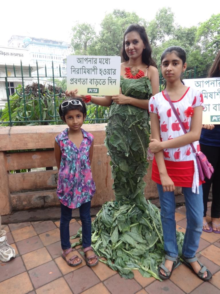 World Environment Day( Lettuce gown) demo - Kolkata June 2014