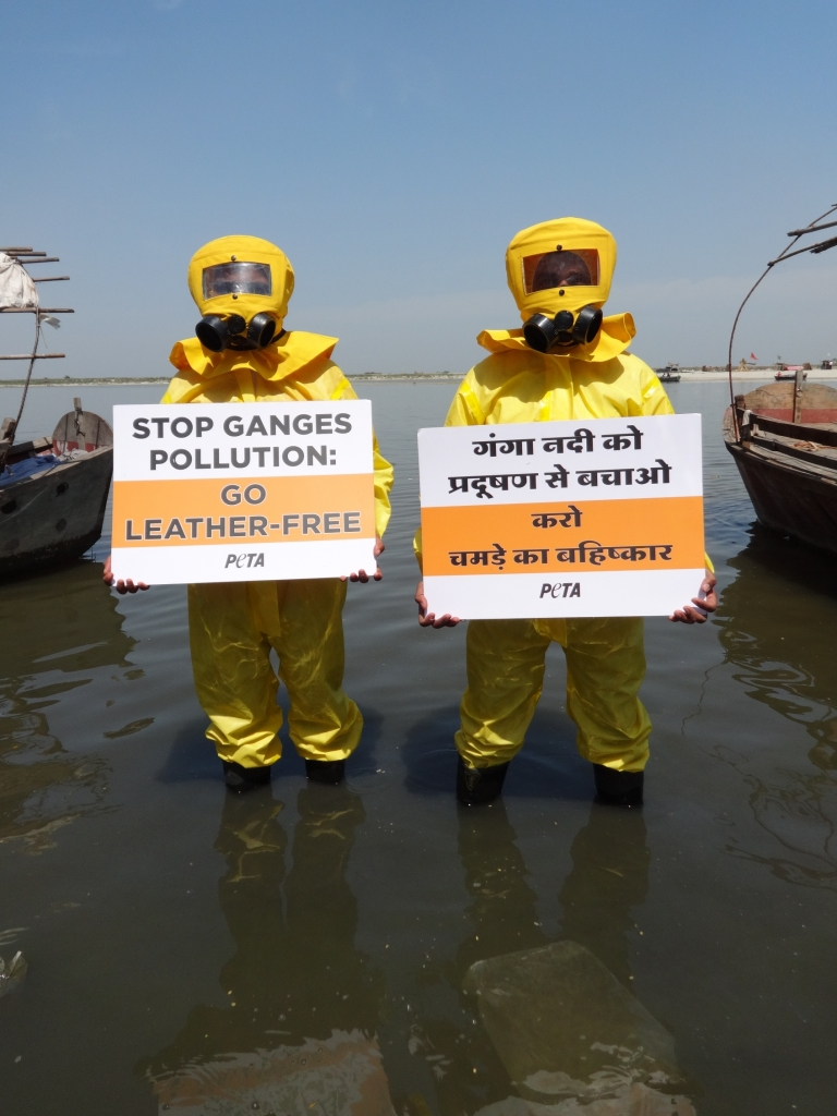 World Water Day Demo- Ganges- Kanpur march 2014