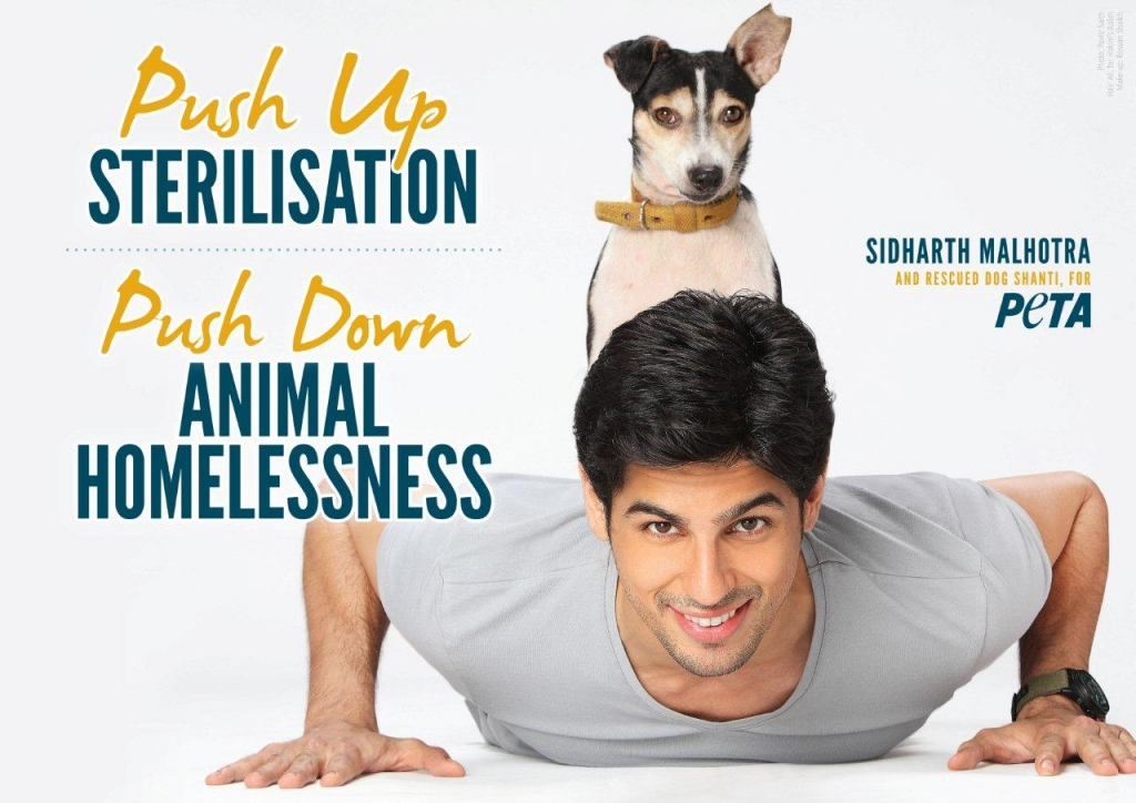 Sidharth Malhotra's New PETA Ad
