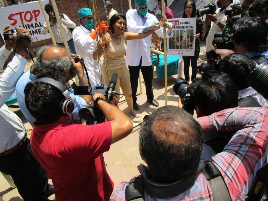 woman experimented on demo photo - delhi 23 april 2015 (2)