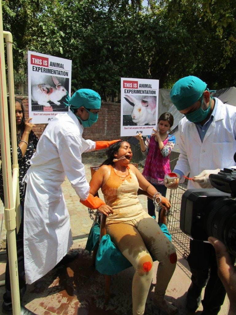 woman experimented on demo photo - delhi 23 april 2015 (6)