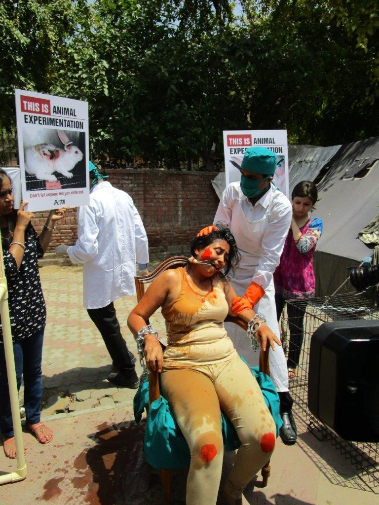 woman experimented on demo photo - delhi 23 april 2015 (7)