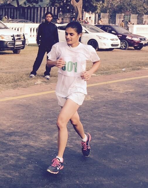 Chianna at Kolkata Marathon