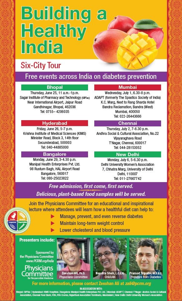 PCRM lectures - building a healthy india