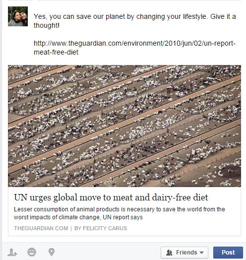 FB post snapshot for world week for water
