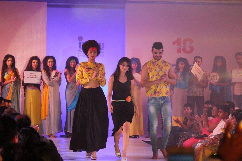 1. Designer Suvagata Das who dedicated her show to PETA