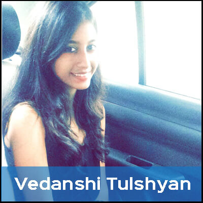 Vedanshi sees animals as her friends, so she chooses not to eat them. Being a vegetarian, she feels guilt-free.