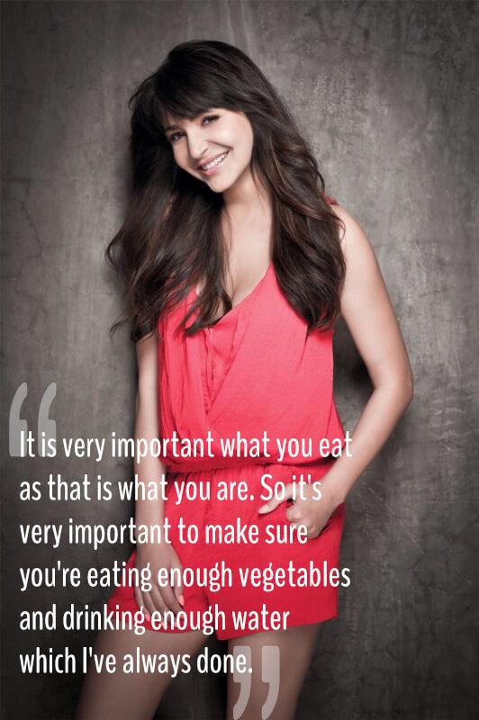 Anushka Sharma with vegetarian quote