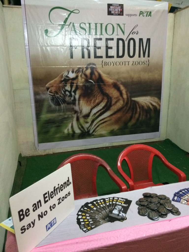 North East India Fashion Weekend PETA Stall
