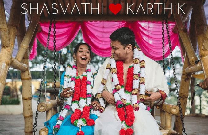 Shasvathi and Karthik Wedding photo