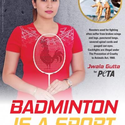 Badminton Star Jwala Gutta Says NO to Cockfighting