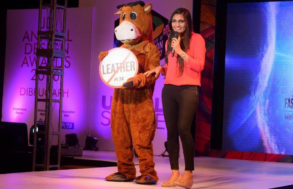 Benazir with Mascot