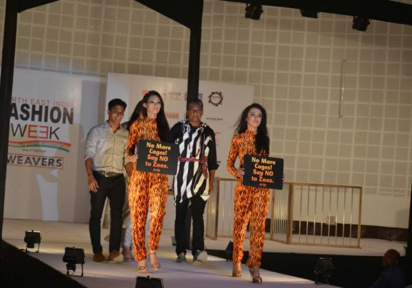 Adil Hussain joins PETA to say NO to zoos at the North East India Fashion Week