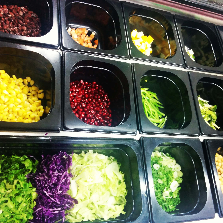 Salad bar - freshly chopped veggies