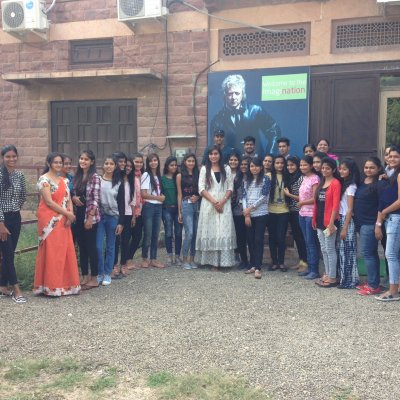 PETA's Benazir Suraiya with JD Institute of Fashion Technology, Jodhpur