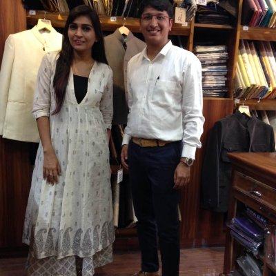 PETA's Benazir Suraiya with Mr Abhishek Trivedi, Centre Director of JD Institute of Fashion Technology, Jodhpur