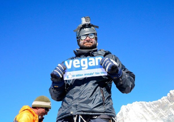 Indian Vegan Conquers Everest!