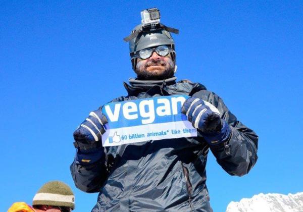 Indian Vegan Conquers Everest!