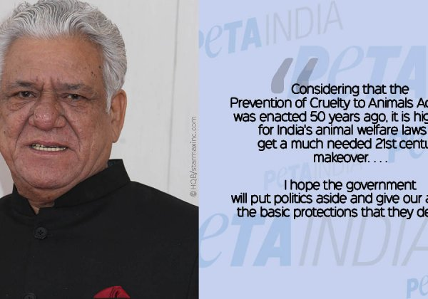 PETA's Statement Regarding the Death of Om Puri