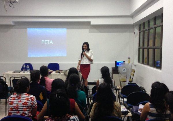 PETA Talks Vegan Fashion at INIFD Kolkata