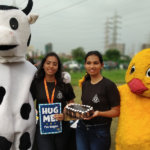 hug a vegan day event at college