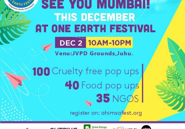 Hear PETA India's Founder Speak at Mumbai's One Earth Festival