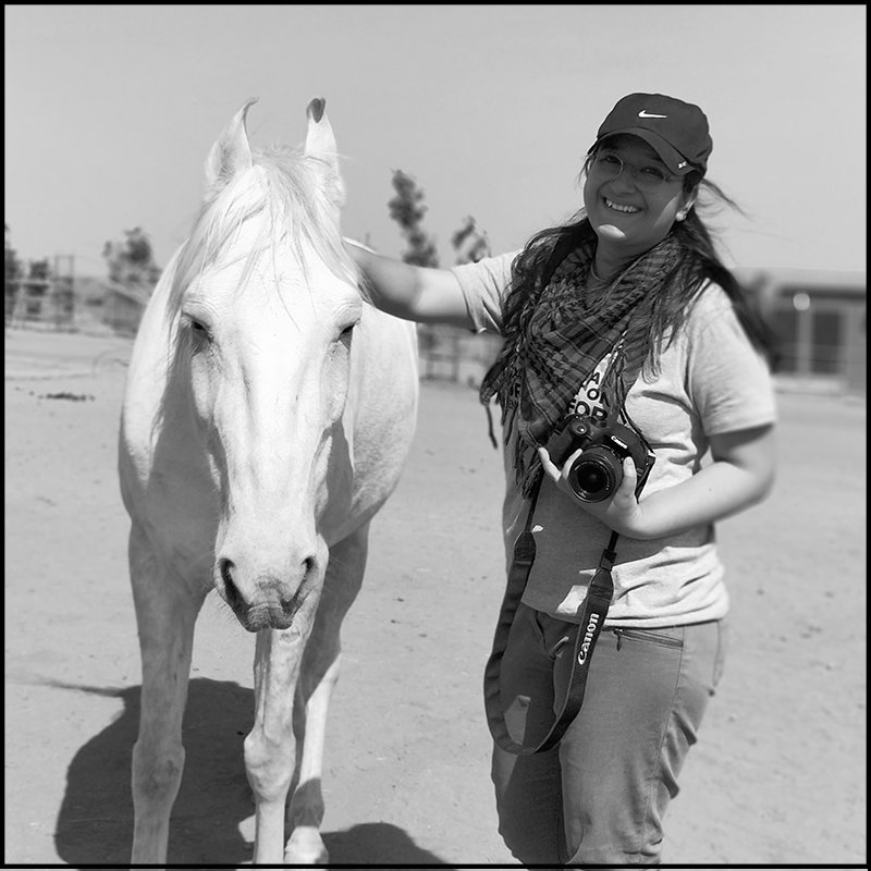 Juhi photo with horse for women's day