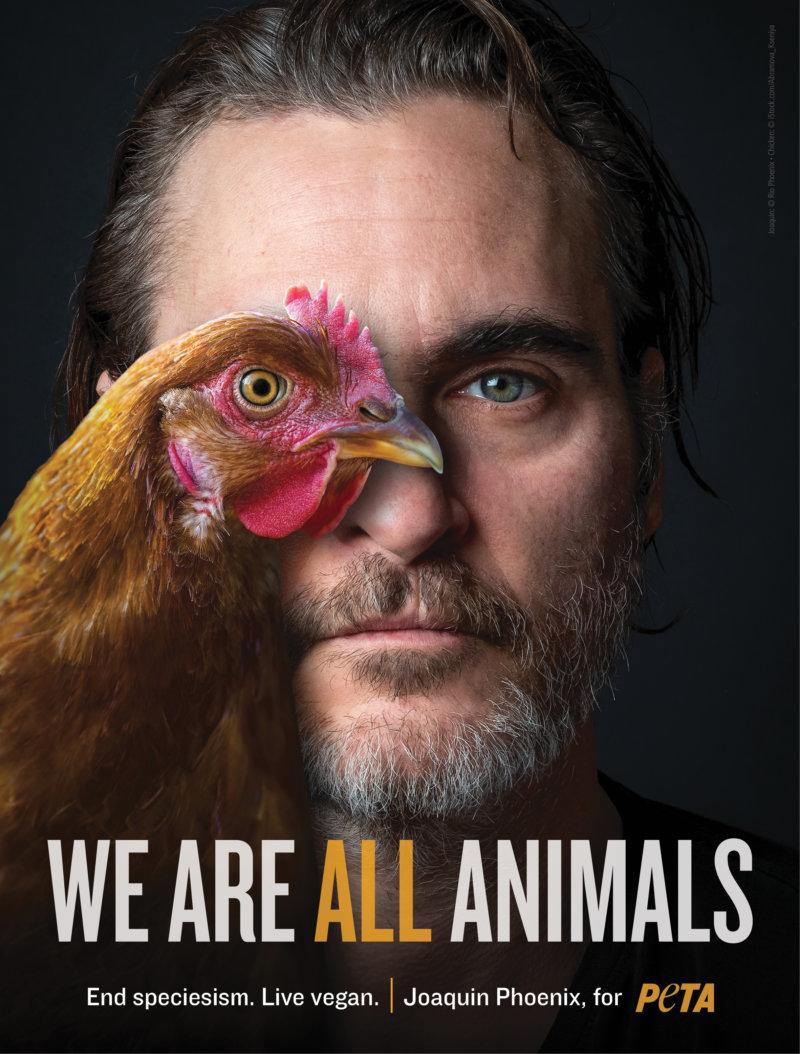Joaquin Phoenix PETA ad End Speciesism