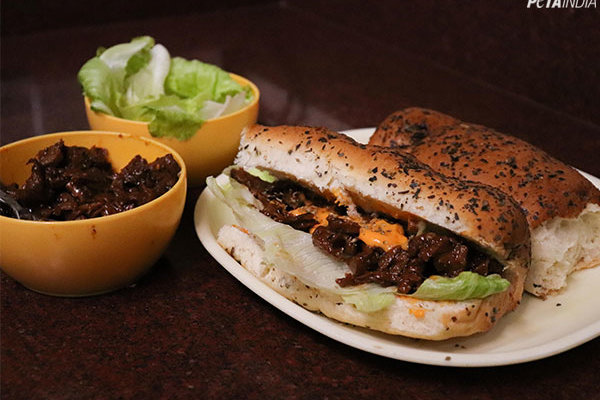 Meaty Vegan Barbecue Sandwich