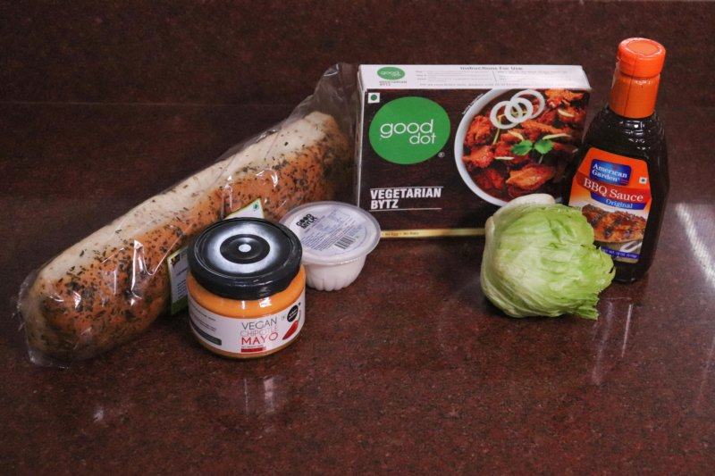 Meaty Vegan Barbeque Sandwich Ingredients