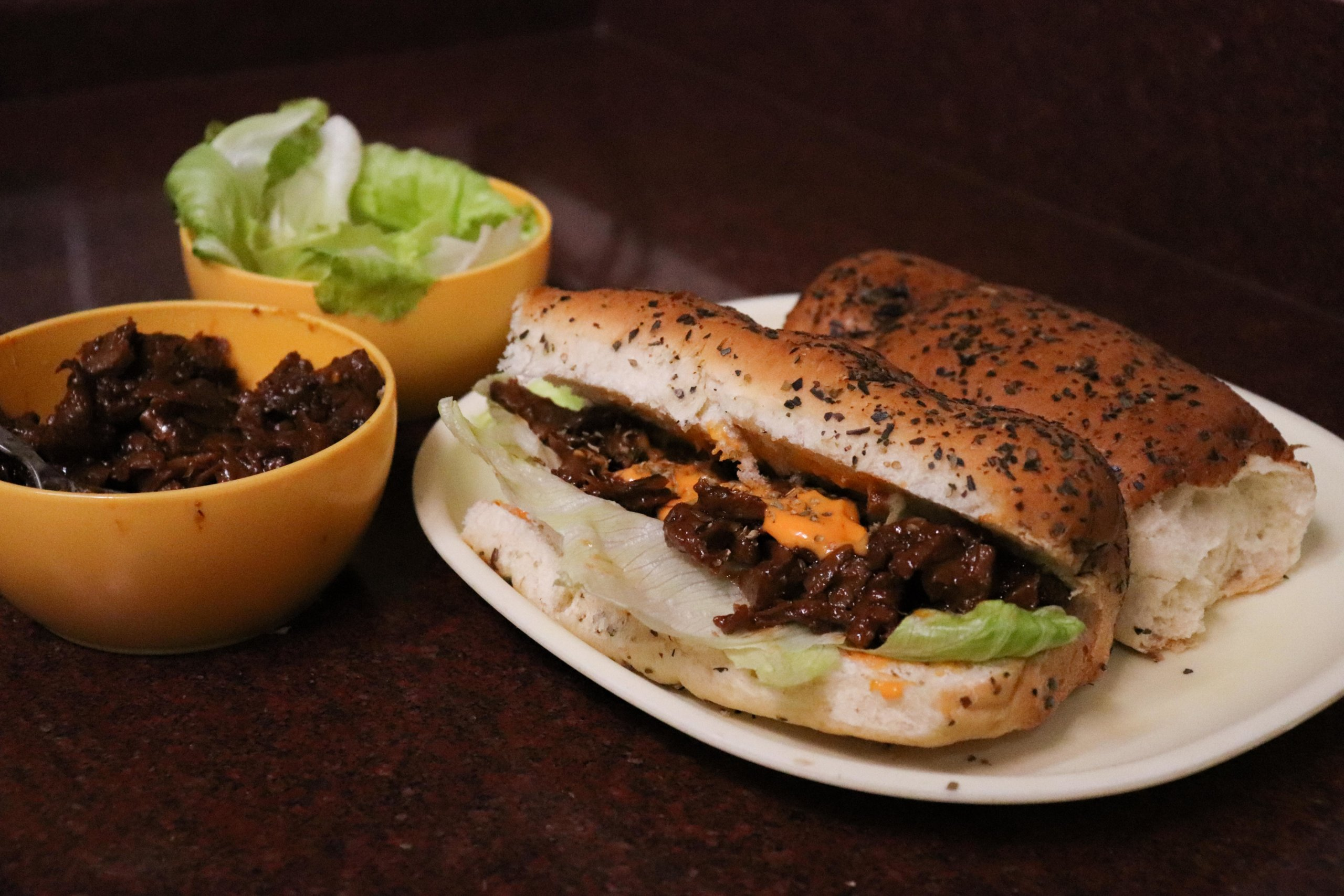 Meaty Vegan Barbeque Sandwich