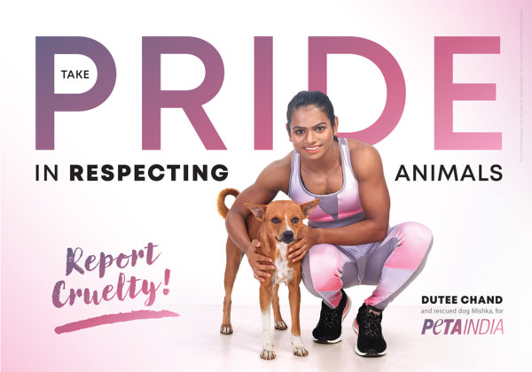 Sprinter Dutee Chand Stars in New PETA India Ad: 'Take Pride in Respecting Animals'