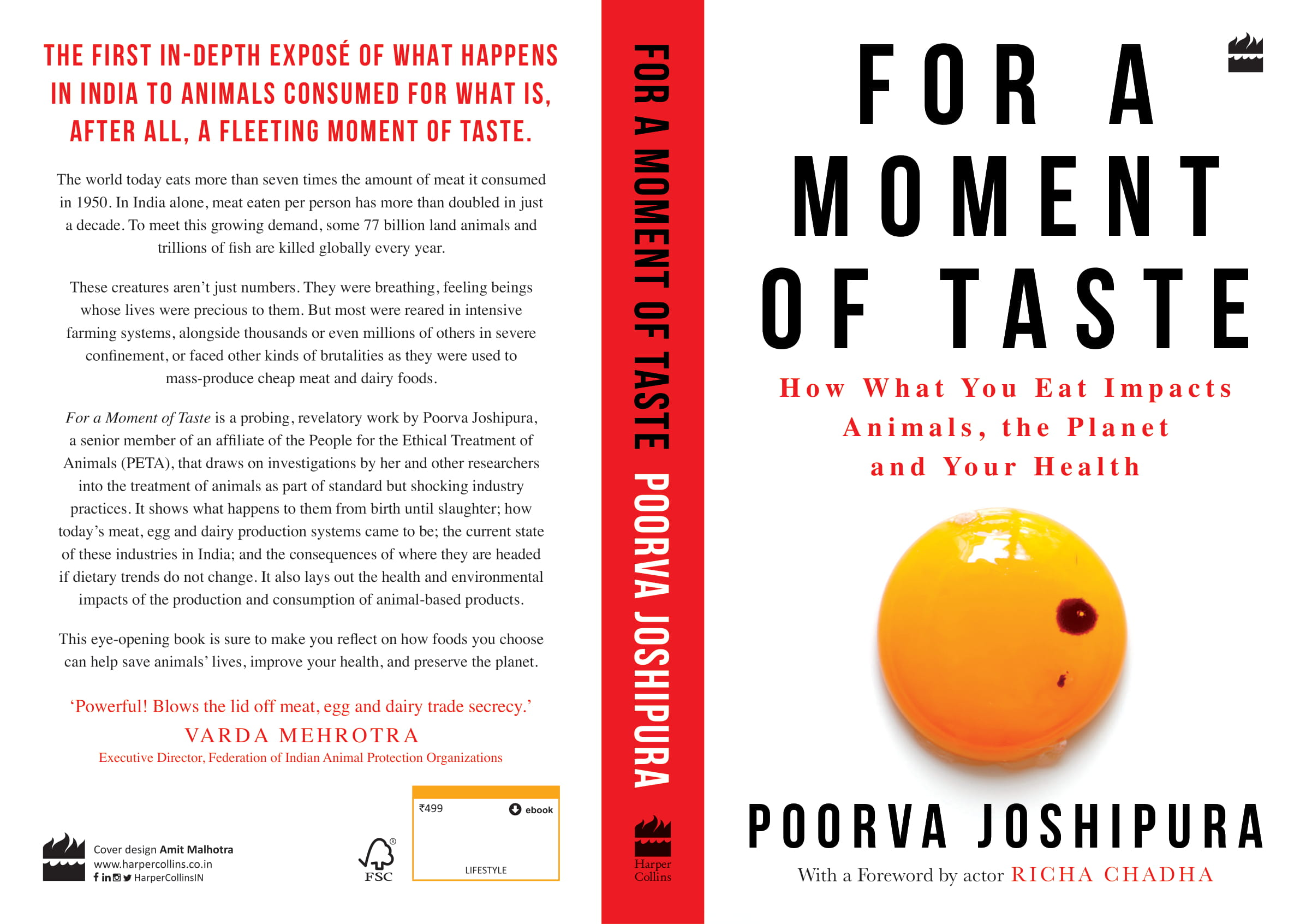 For a Moment of Taste cover - Poorva's book