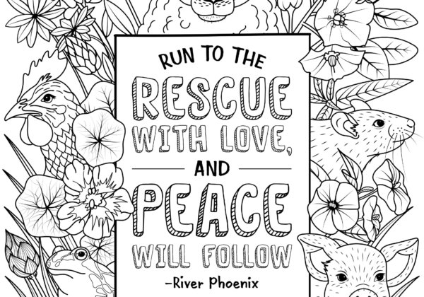 Run to the Rescue Coloring Sheet_300 River Phoenix