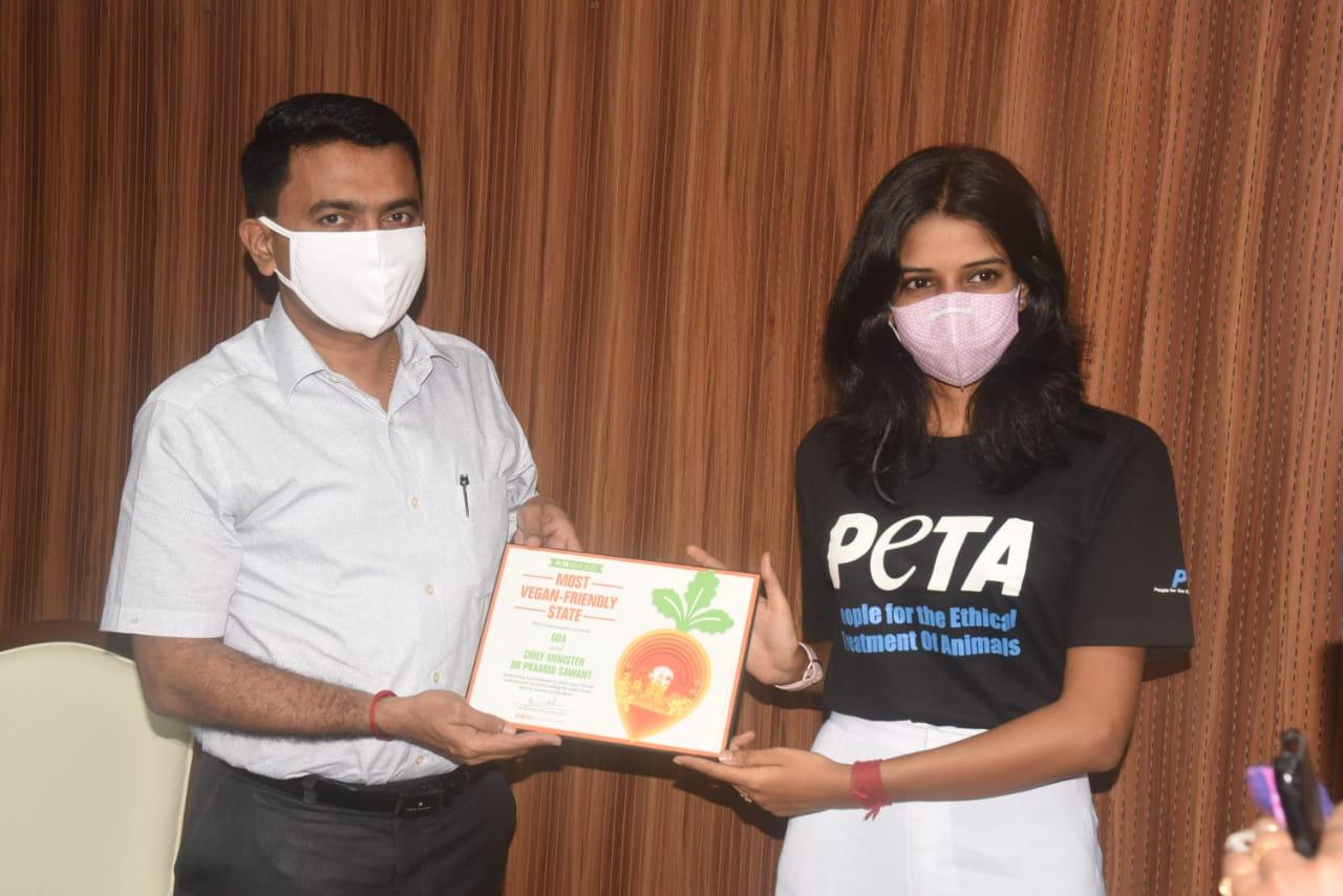 Goa minister award vegan friendly city 2020 Image