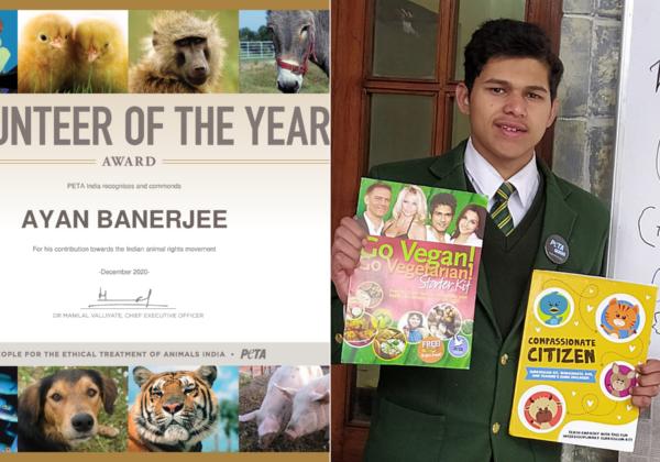 Prayagraj Student Is PETA India's 2020 Volunteer of the Year
