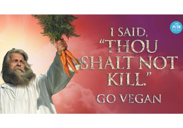 'Thou Shalt Not Kill' PETA India Billboards Rise in Cities