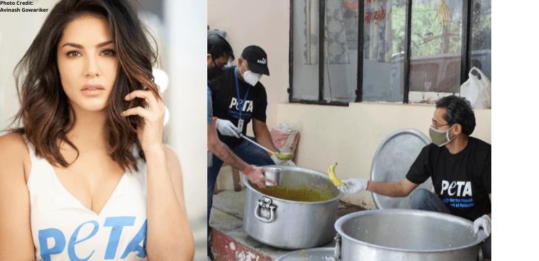 PETA India and Sunny Leone Donate 10,000 Vegan Meals to Delhi Migrant Workers